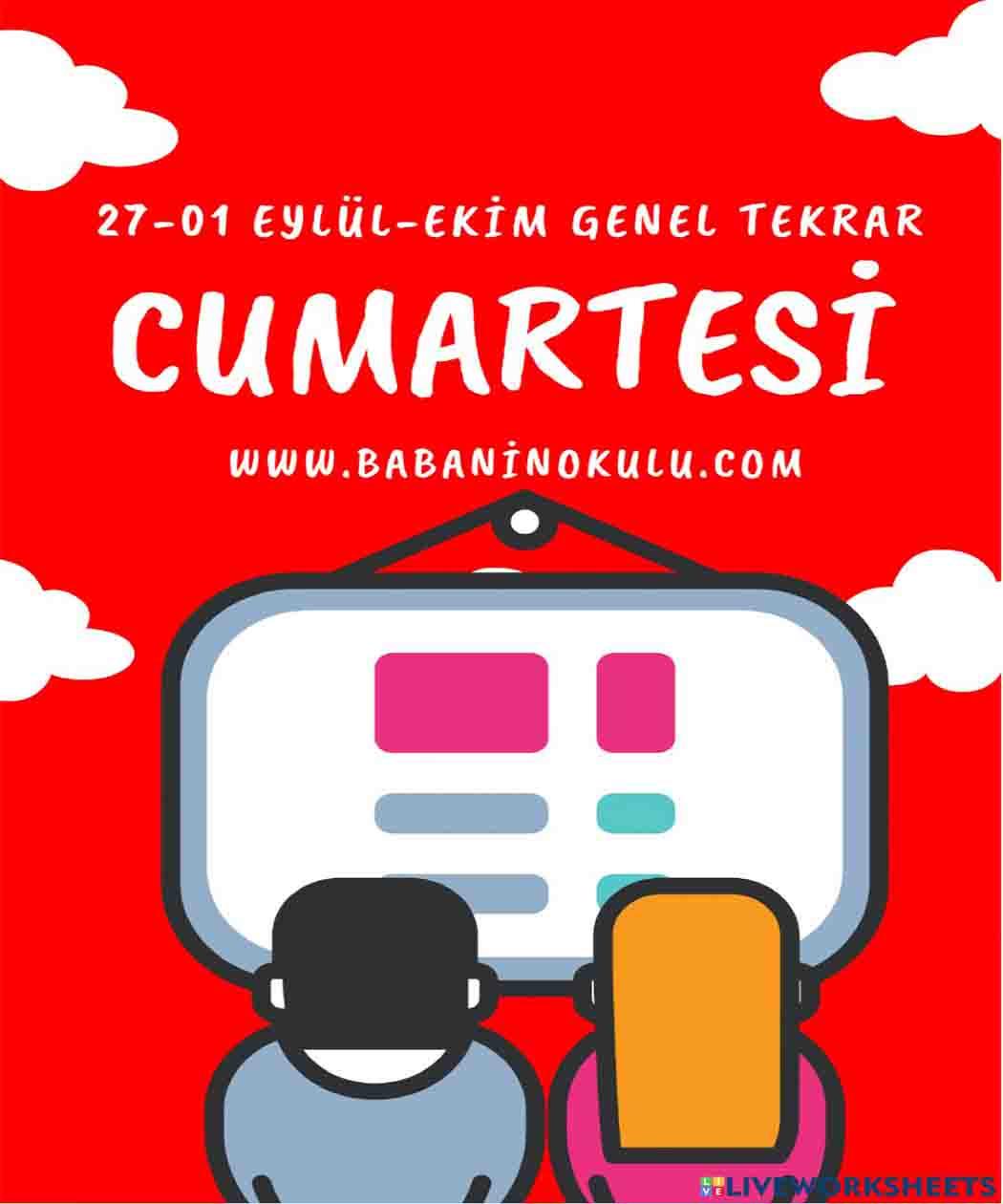 27-01 EYLÜL TEKRAR CUMARTESİ