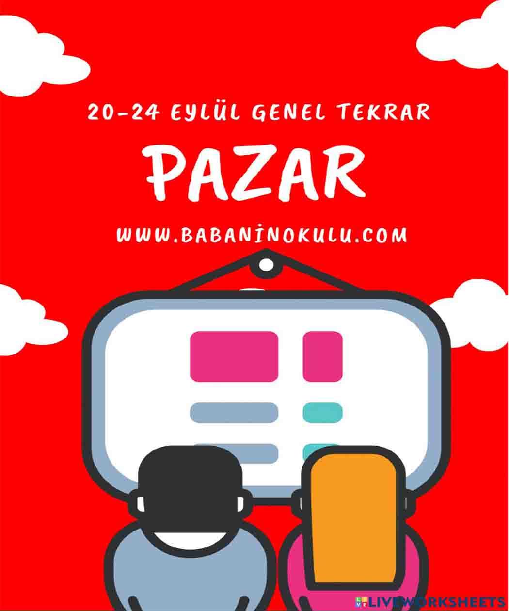 20-24 EYLÜL TEKRAR PAZAR